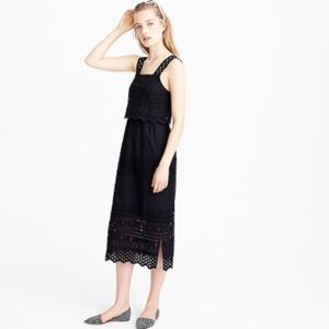 J. Crew Dresses - J. Crew Tiered Eyelet Midi Dress